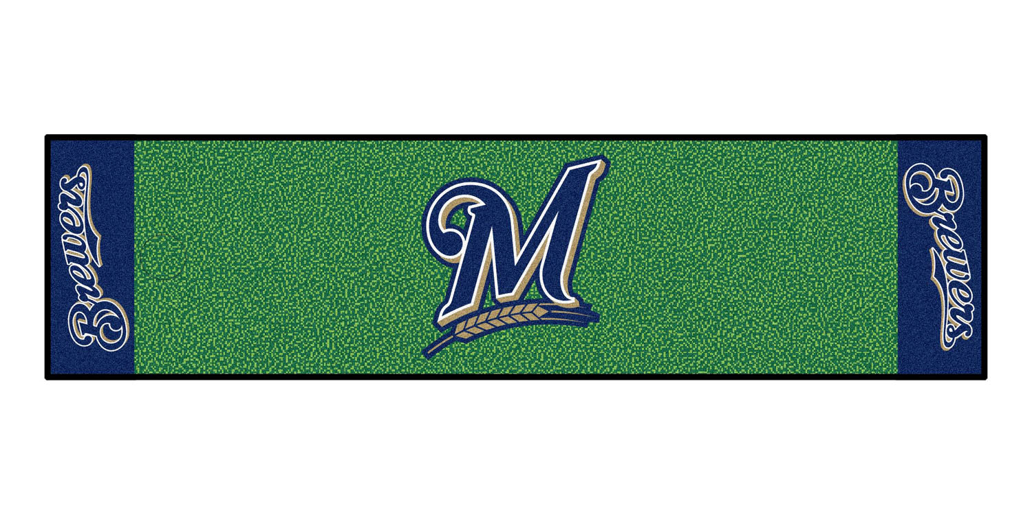 "Fanmats Milwaukee Brewers Putting Green Runner 18""x72"""