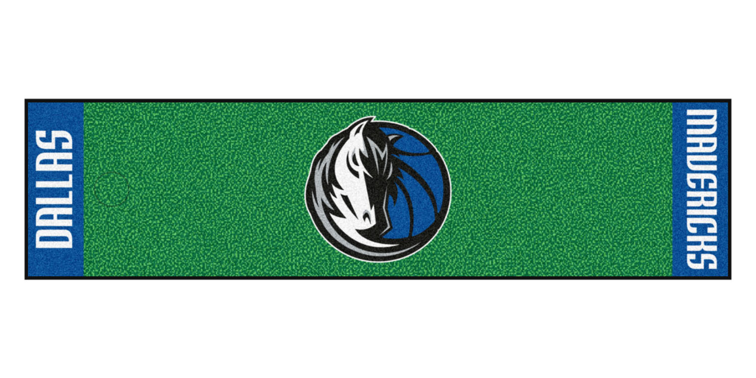 "Fanmats Dallas Mavericks Putting Green Runner 18""x72"""