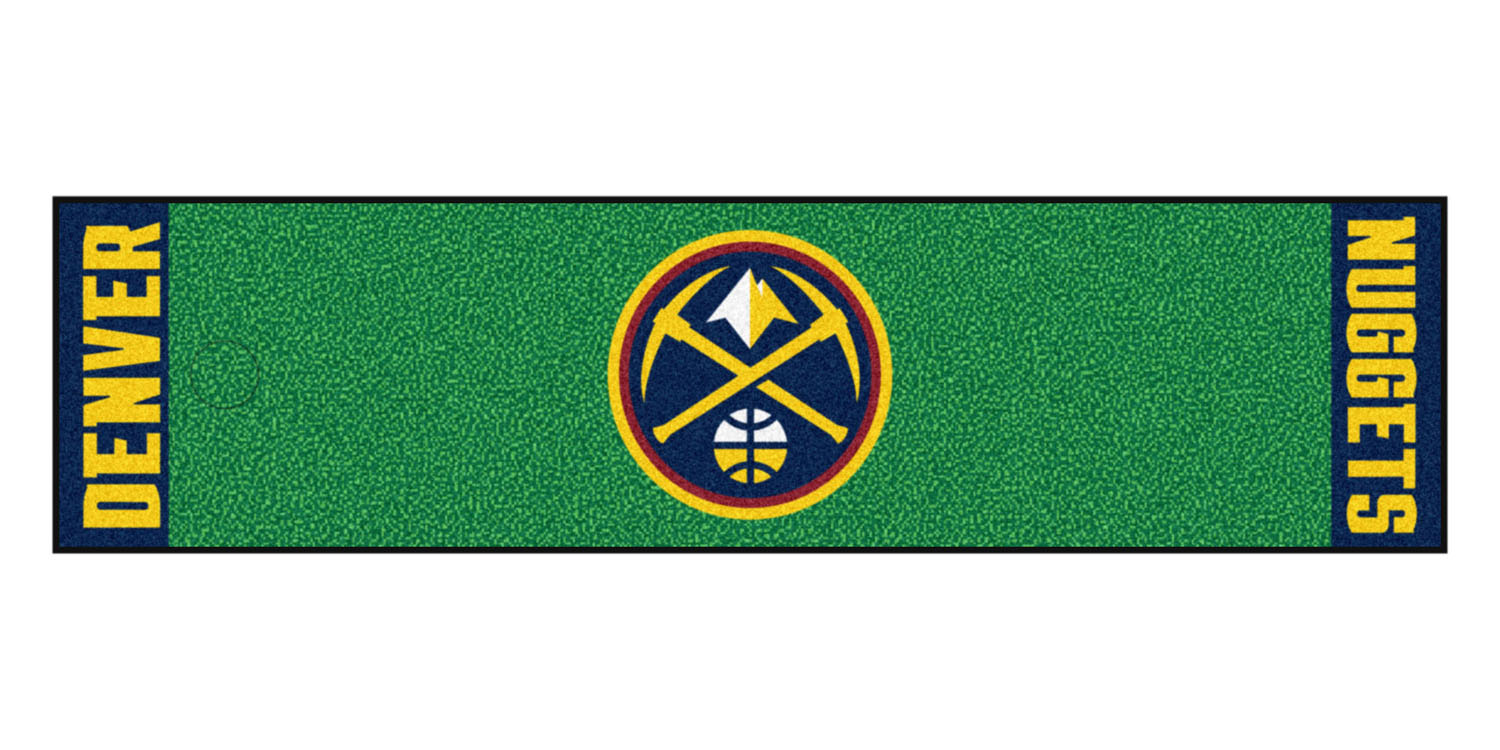"Fanmats Denver Nuggets Putting Green Runner 18""x72"""