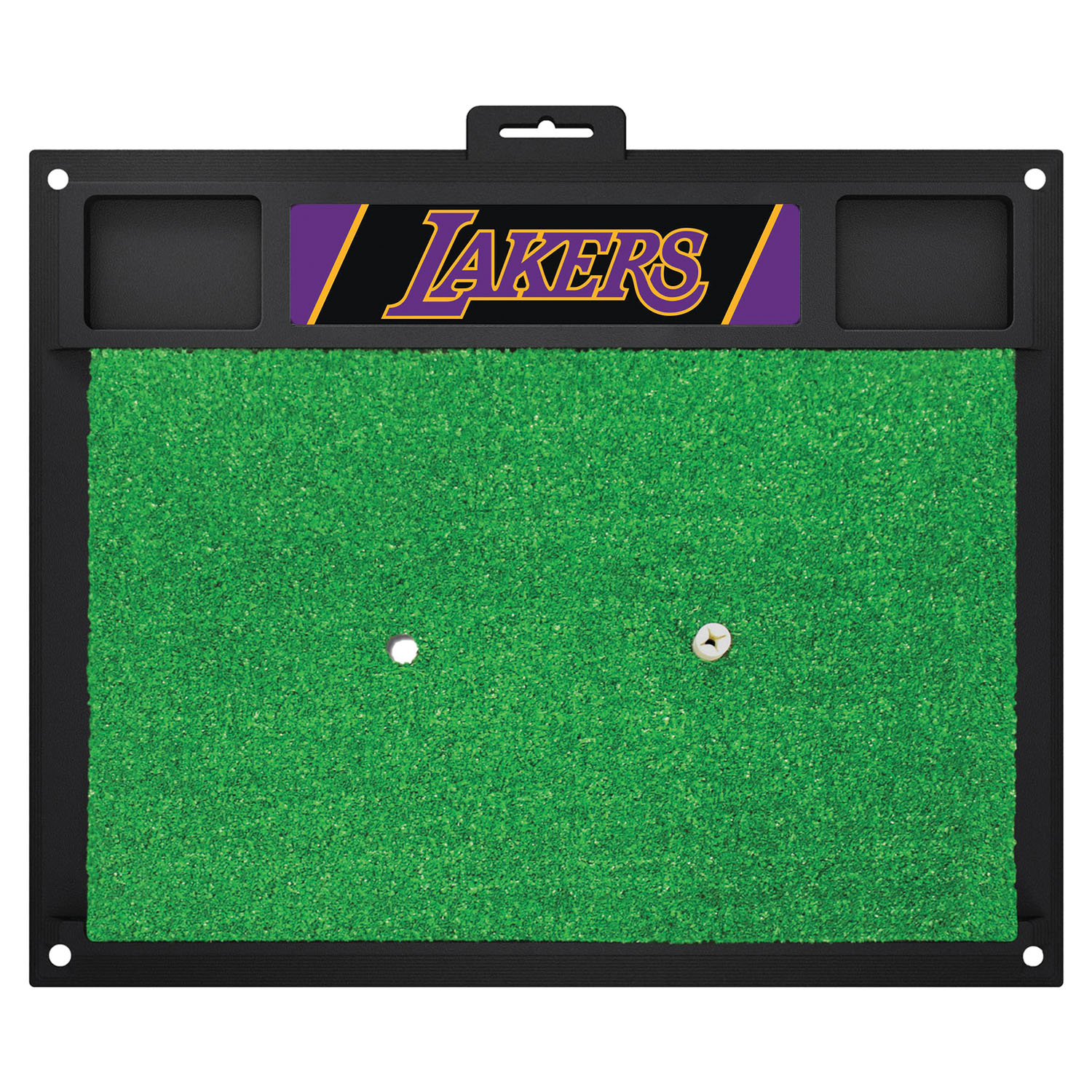 Fanmats Los Angeles Lakers Sports Team Logo Backyard Golf Hitting Practice Mat