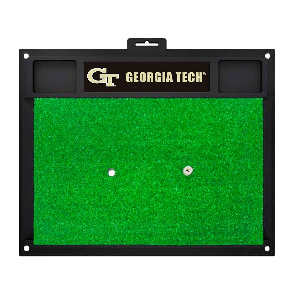 "Fanmats Georgia Tech Sports Team Logo Rug Home Indoor Outdoor Backyard Golf Hitting Practice Mat 20"" x 17"""