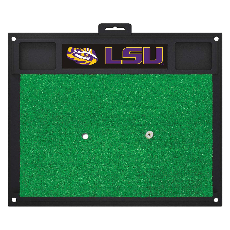 "Fanmats Louisiana State University Sports Team Logo Rug Home Indoor Outdoor Backyard Golf Hitting Practice Mat 20"" x 17"""