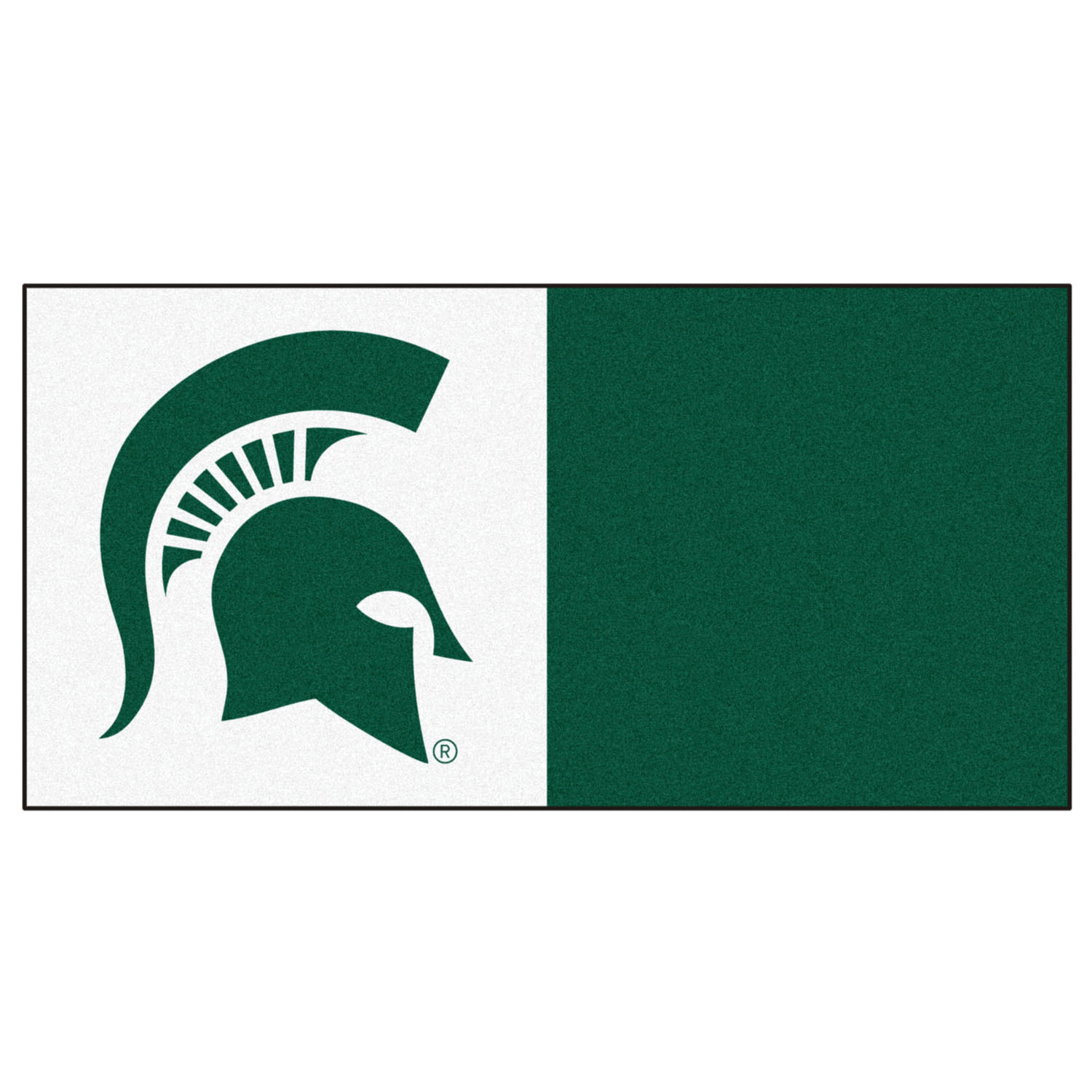"Fanmats Michigan State Carpet Tiles 18""x18"" tiles"