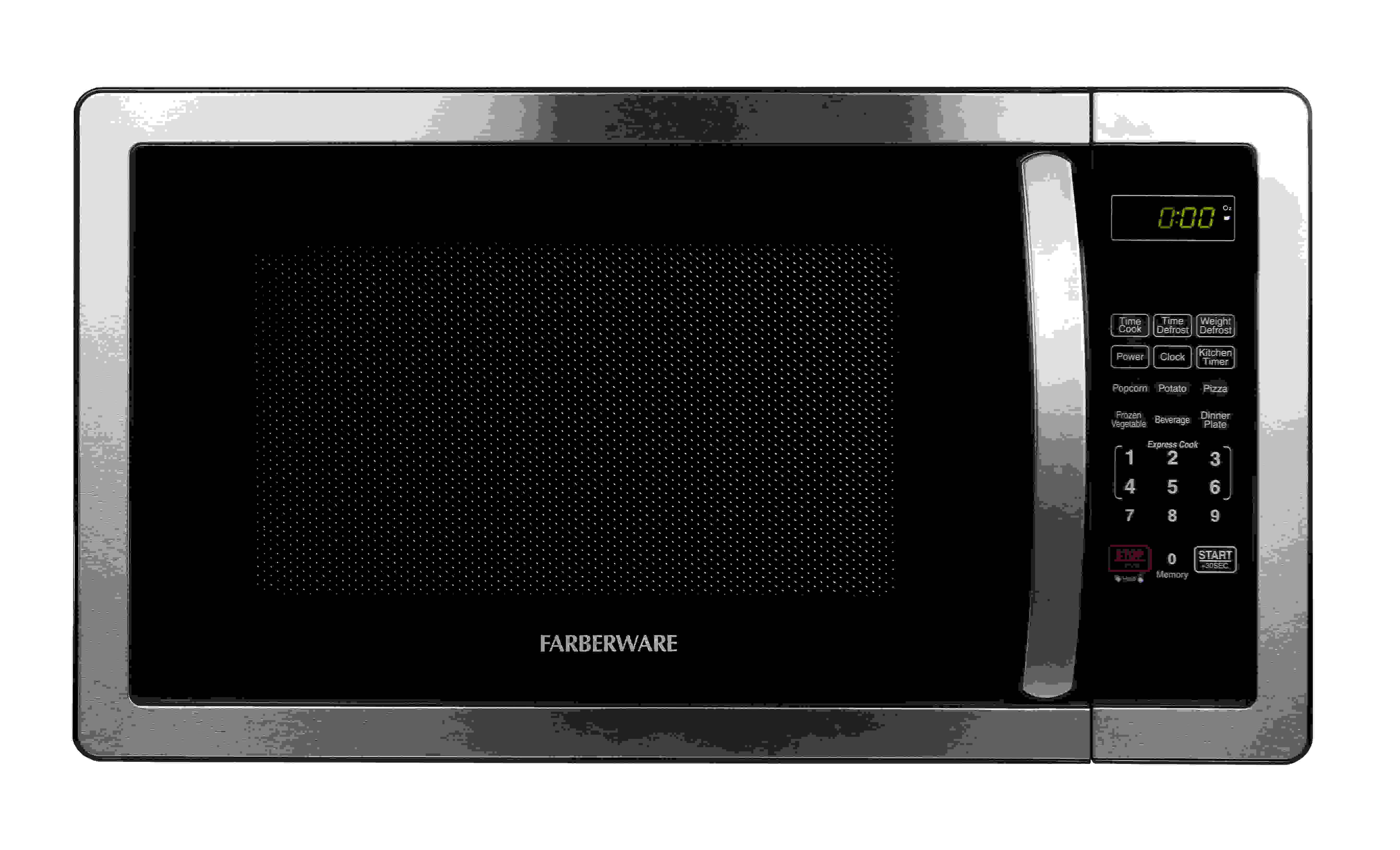 Farberware Classic FMO11AHTBKB 1.1 Cu. Ft 1000-Watt Microwave Oven, Stainless Steel
