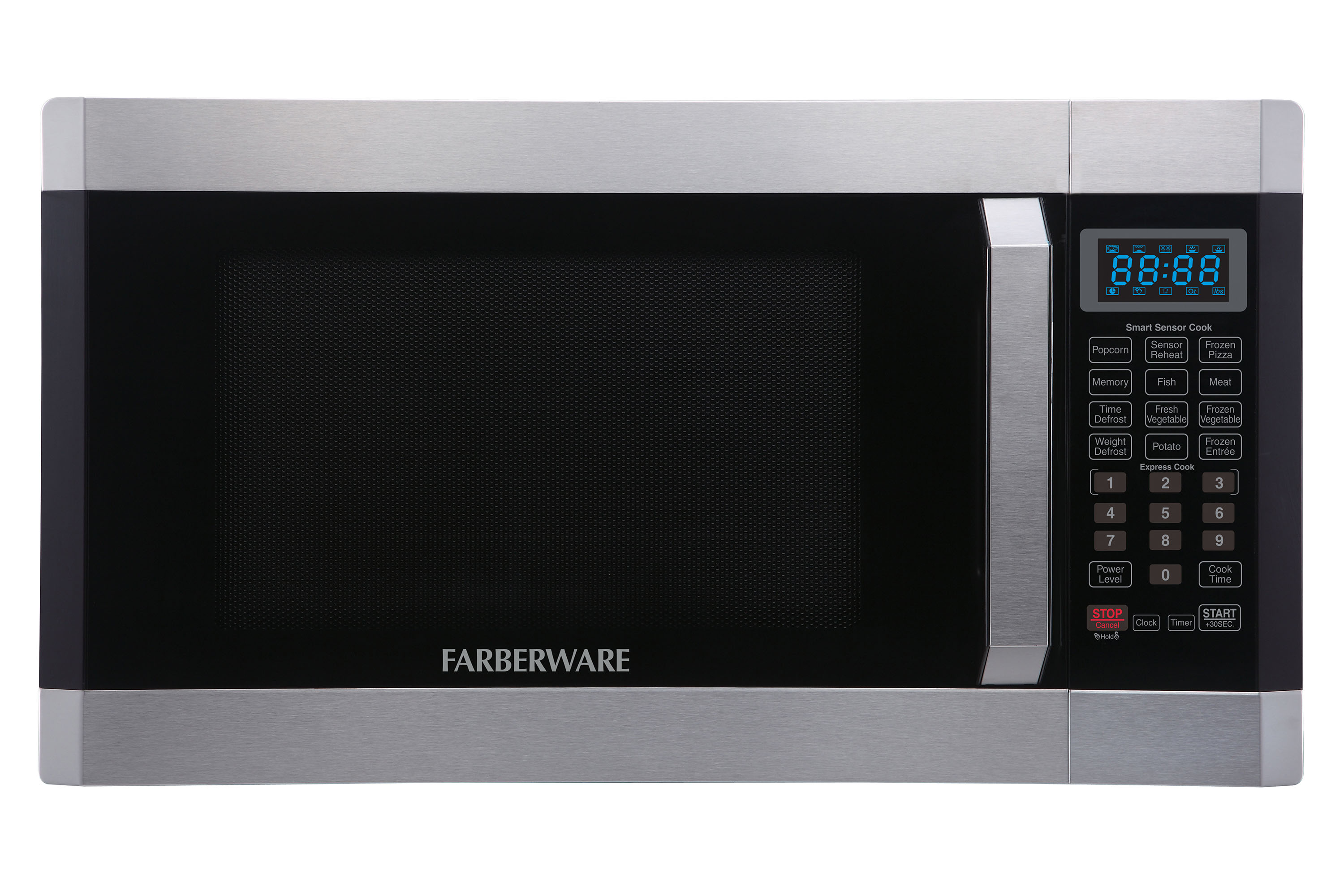 Farberware Professional FMO16AHTPLB 1.6 Cu. Ft 1100- Watt Microwave Oven with Smart Sensor, Stainless Steel with Platinum