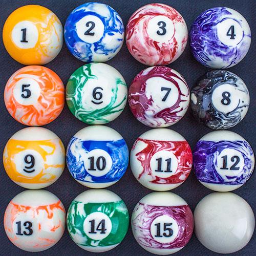 Marbled Pool Ball Set