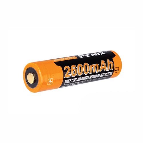 18650 (3.6V) 2600 mAh Recharge. Bat.