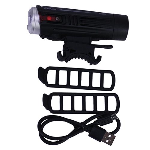 BC21R LED Bike Light w/battery, Blk/Slv