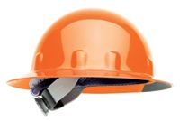 Fibre-Metal+ Hi-Viz Orange SUPEREIGHT+ Class E, G or C Type I Thermoplastic Hard Hat With Full Brim And 3-R Ratchet Suspension