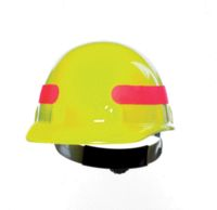 Fibre-Metal+ Hi-Viz Yellow SUPEREIGHT+ Class E, G or C Type I Thermoplastic Hard Hat With Full Brim And 3-R Ratchet Suspension