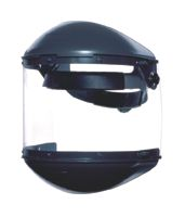 "Fibre-Metal+ Model F-400 Noryl+ Dual Crown Ratchet Headgear With Clear Propionate Facshield, Built-In 4"" Deep Chin Guard, 4"" Dee"