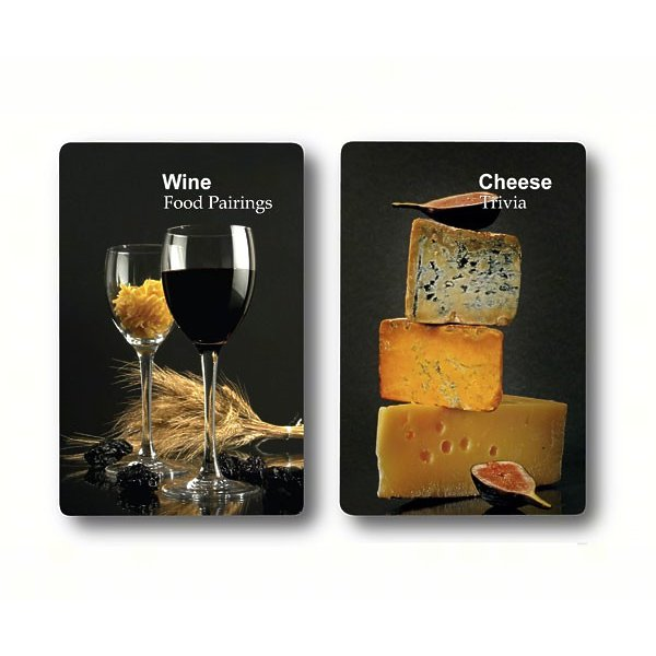 Double Deck Wine & Cheese Trivia Playing Cards