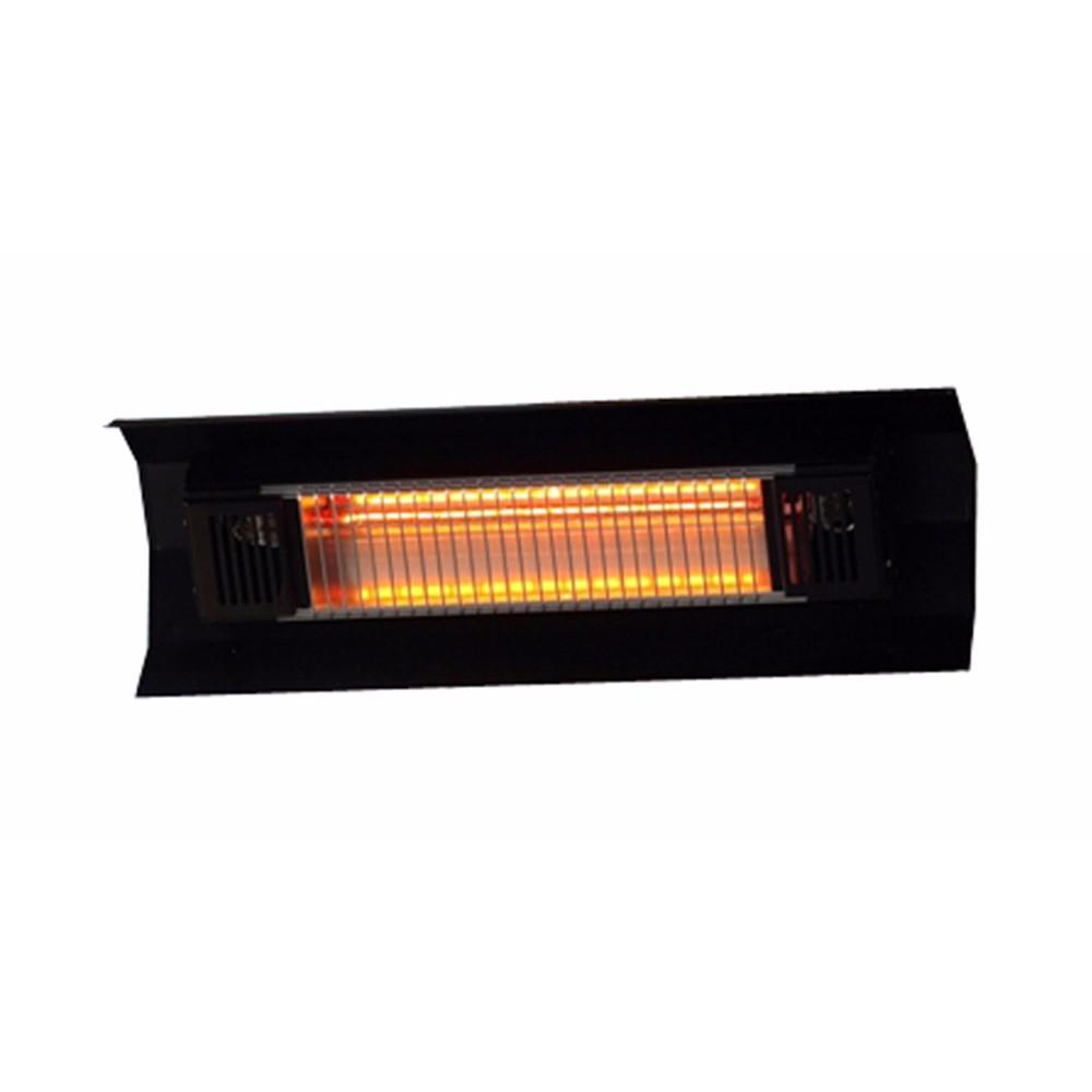 WT Living 1500 Watt Infrared Wall-Mounted Black Steel Patio Heater -Black Steel Wall Mounted Infrare