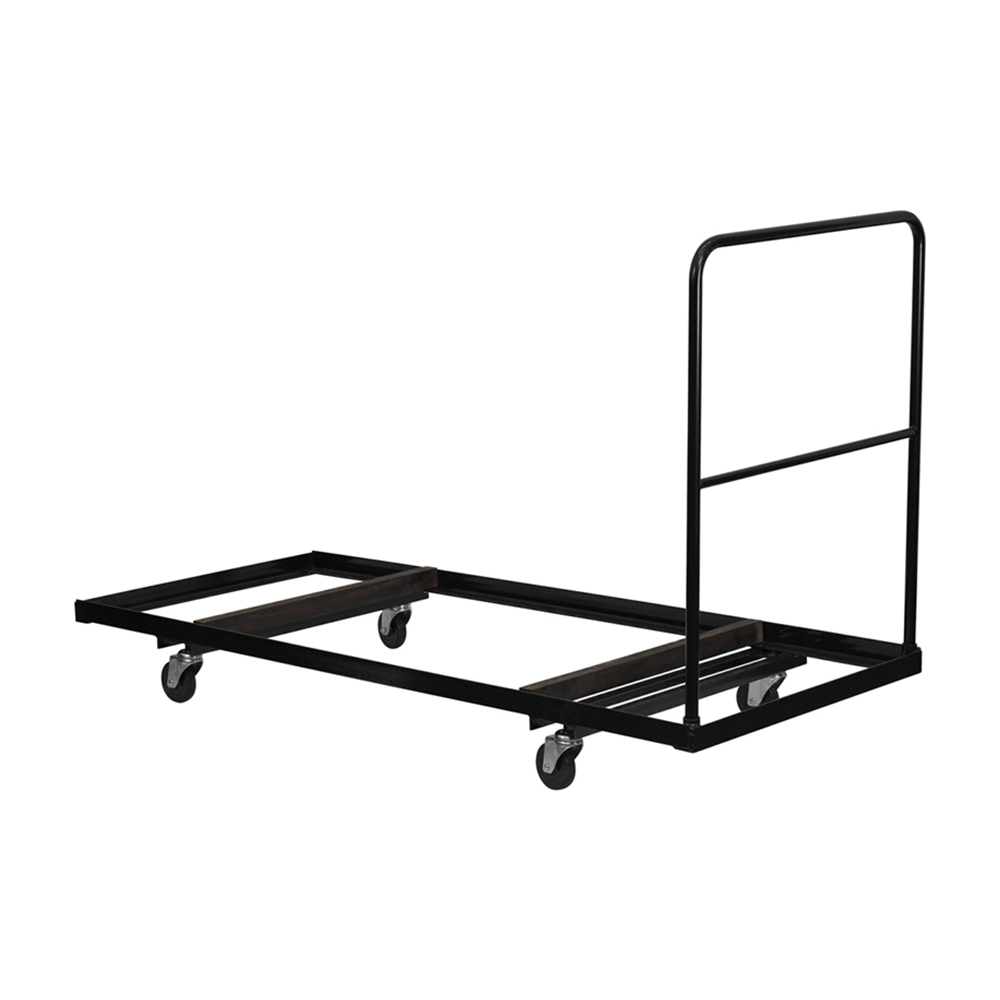 Black Steel Folding Table Dolly for 30x72 Rectangular Folding Tables [NG-DY3072-GG]