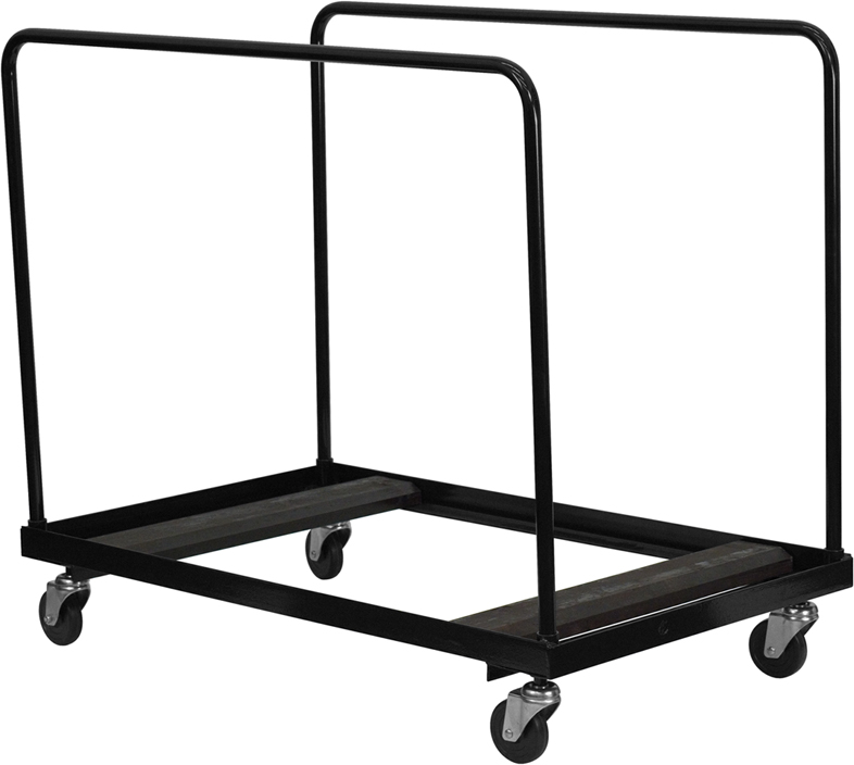 Black Steel Folding Table Dolly for Round Folding Tables [NG-DY60-GG]