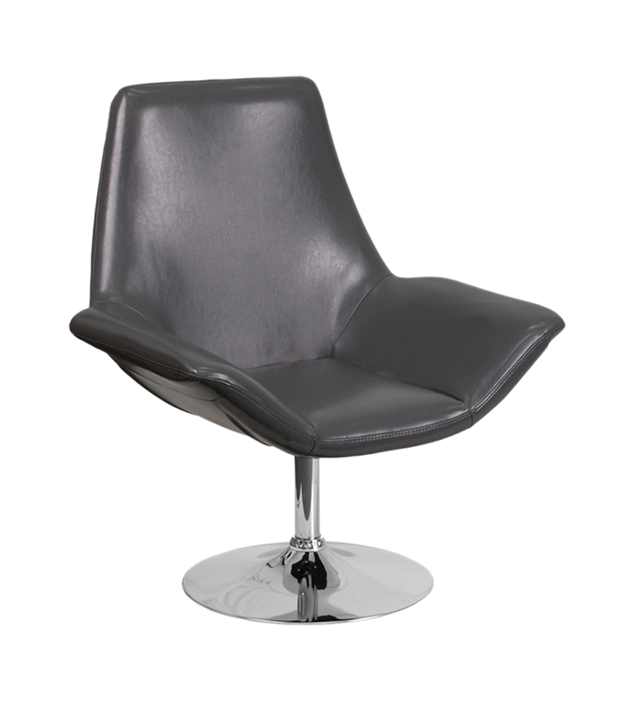 Flash Furniture Hercules Sabrina Series Gray Leather Reception Chair