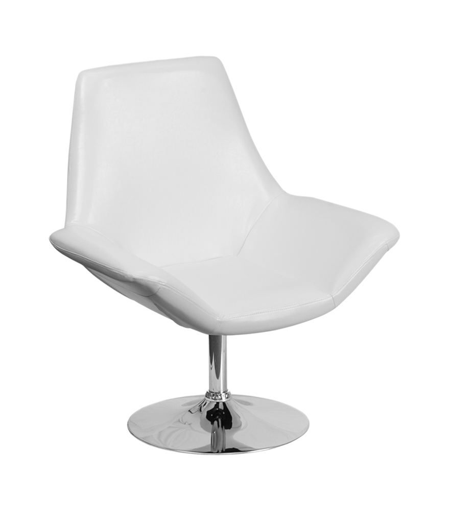Flash Furniture Hercules Sabrina Series White Leather Reception Chair