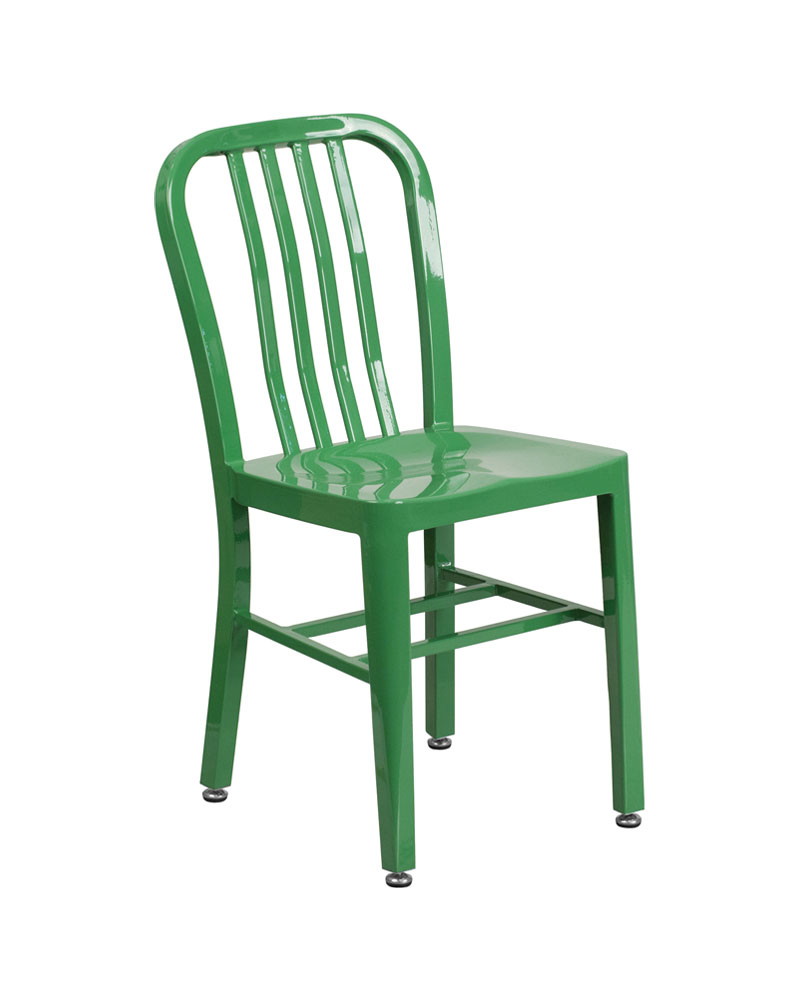 Flash Furniture Green Metal Indoor-Outdoor Modern Chair