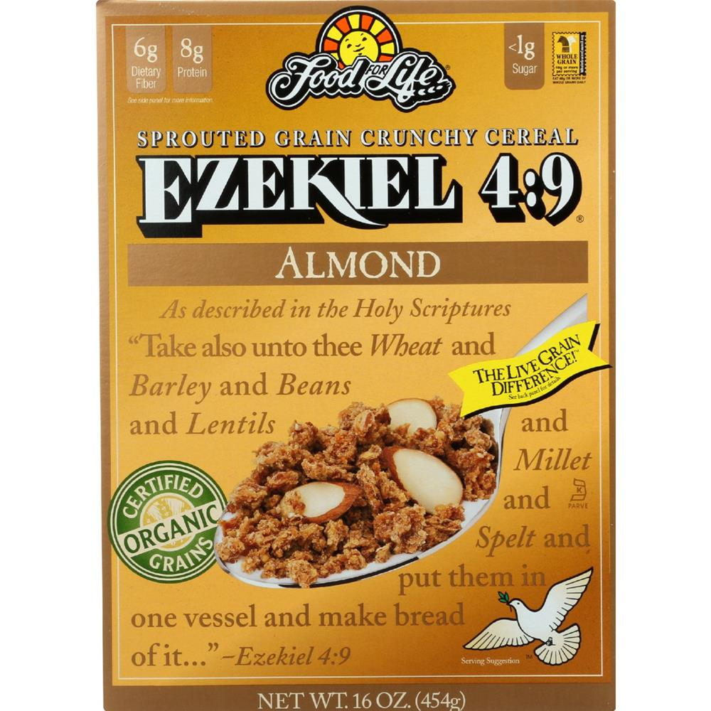 Food For Life Baking - Ezekiel 4:9 Almond Cereal ( 6 - 16 OZ)