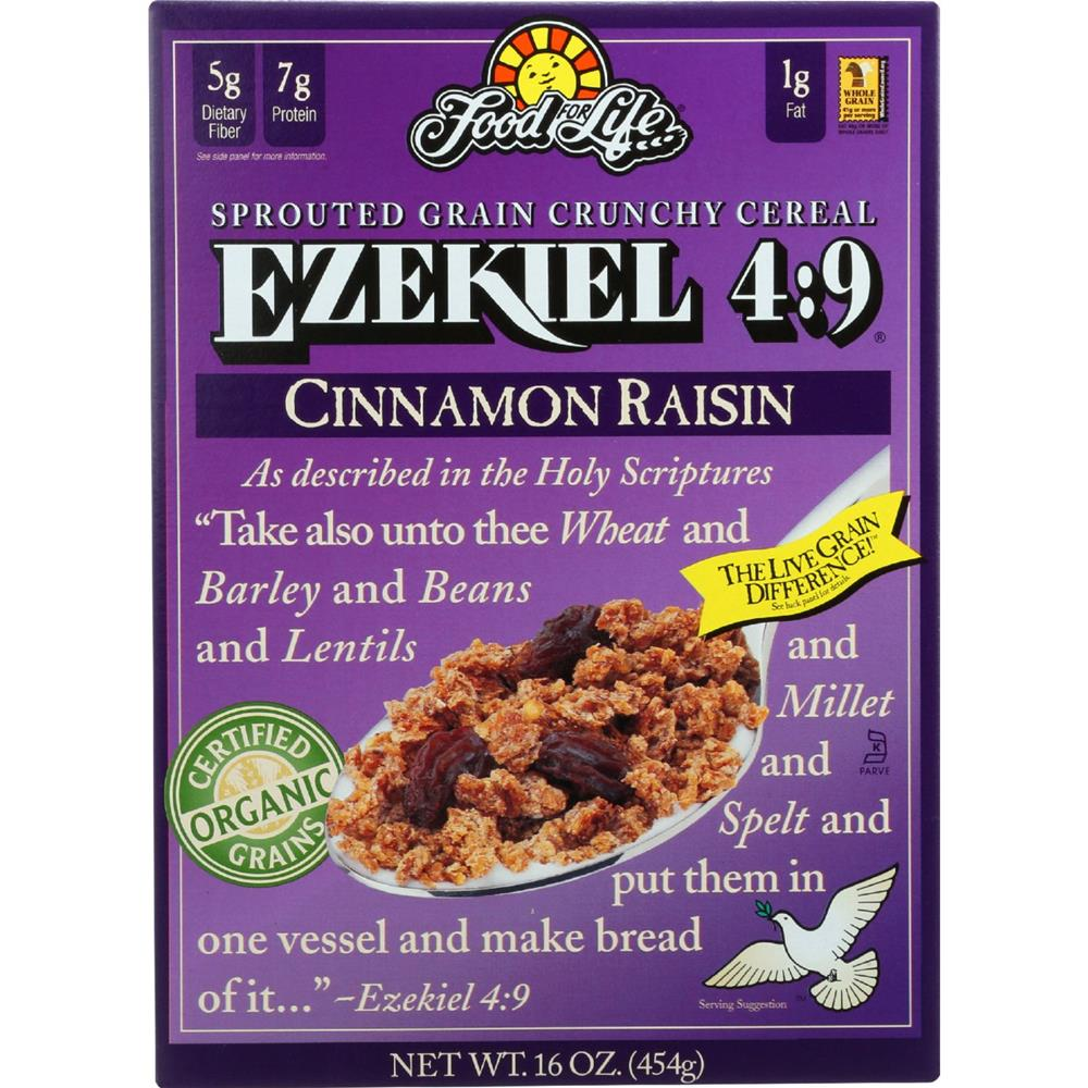 Food For Life Baking - Ezekiel 4:9 Cinnamon Raisin Cereal ( 6 - 16 OZ)