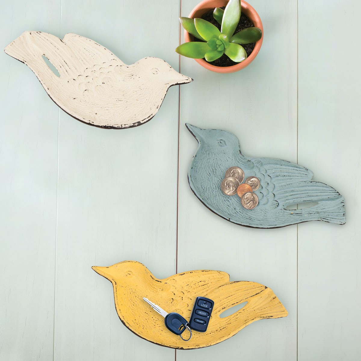 Bird Trinket Trays Set of 3
