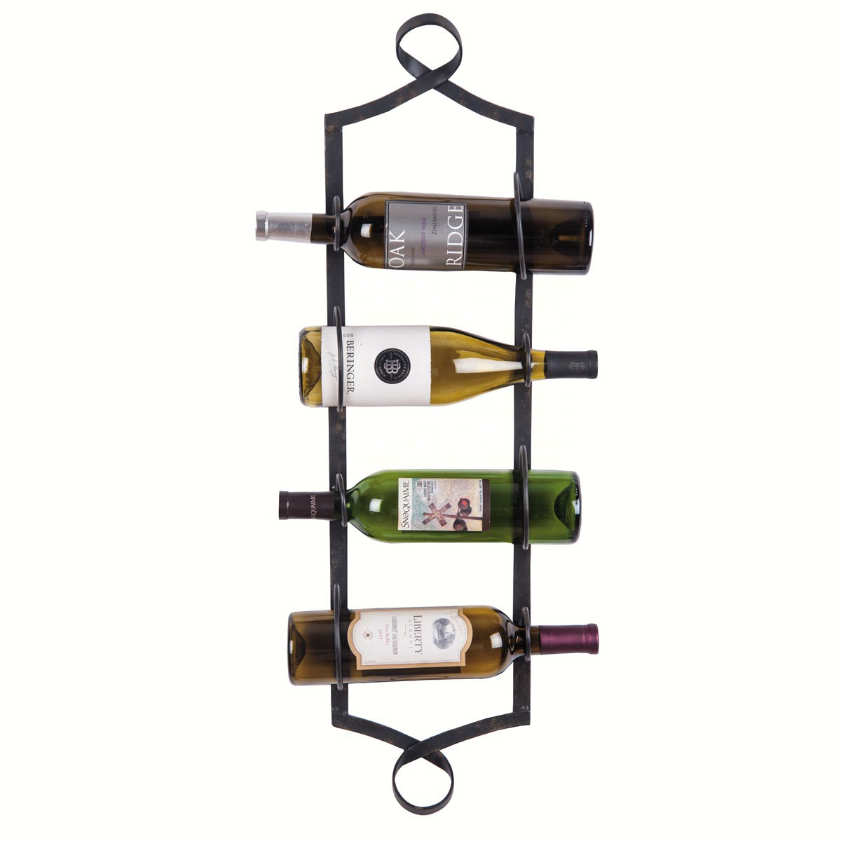 4 Bottle Metal Wall Wine Rack