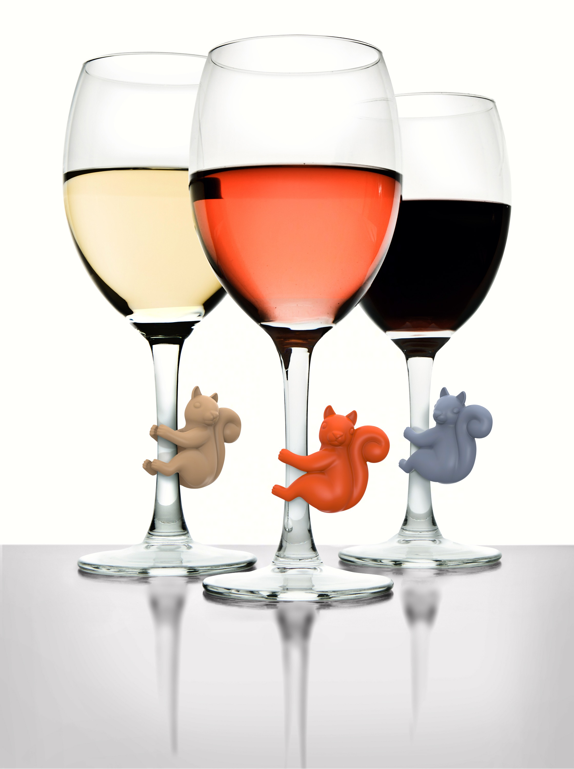 Social Climbers Squirrel Wine Charms (6 per pack)