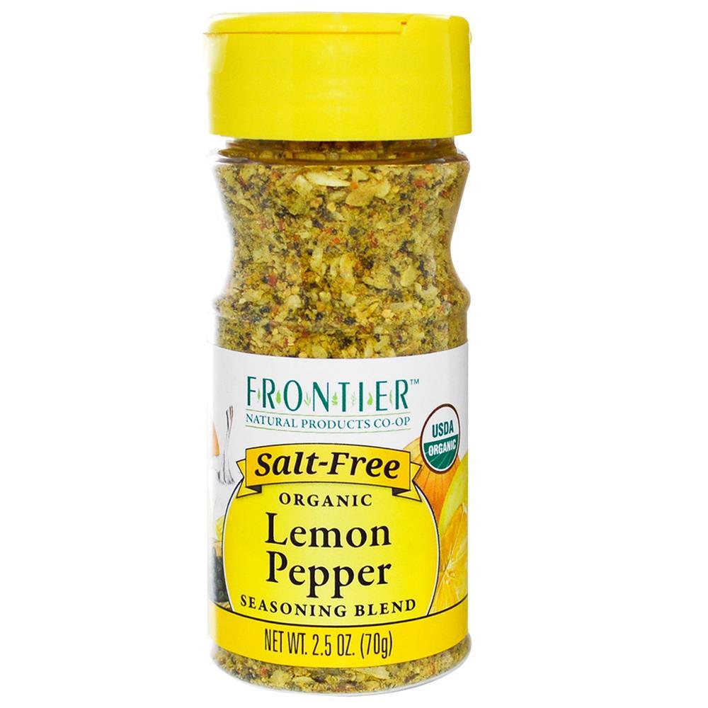 Frontier Herb - Organic Salt Free Lemon Pepper ( 6 - 2.5 OZ)