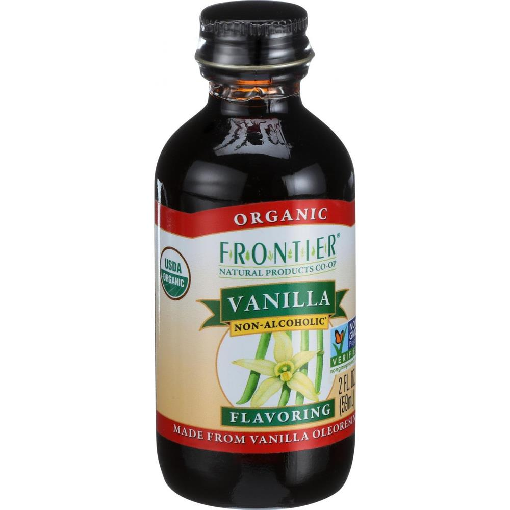 Frontier Herb - Alcohol Free Organic Vanilla Flavor ( 3 - 2 FZ)