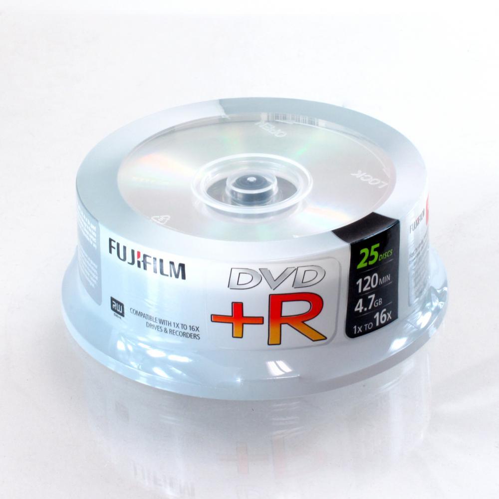 FujiFilm DVD+R 4.7GB 25-Pack Spindle