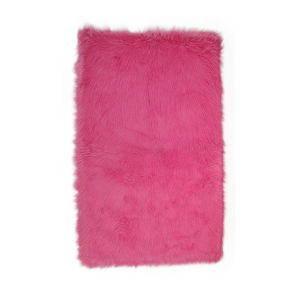 "Fun Rugs Flokati Collection Home Kids Room Decorative Floor Area Rug Hot Pink -39""X58"""