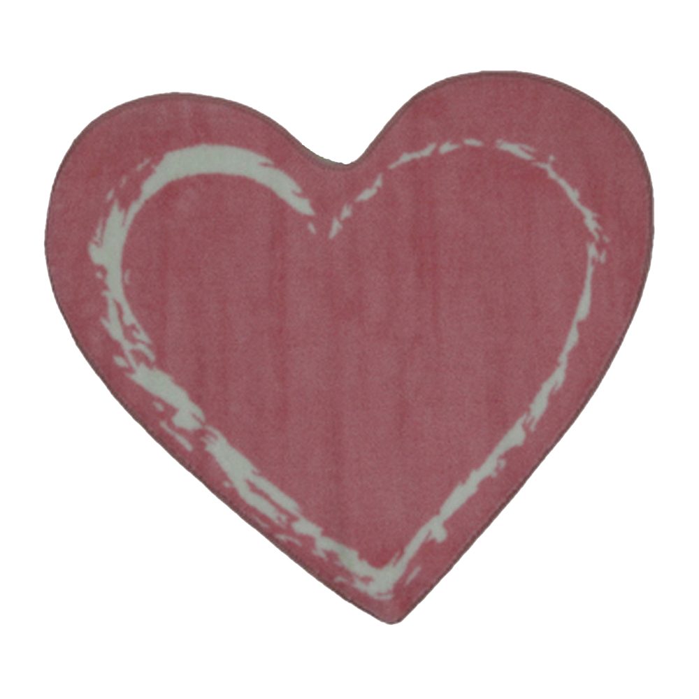"Fun Rugs Fun Time Shape Pink Heart Home Decorative Accent Area Rug 35""X39"""