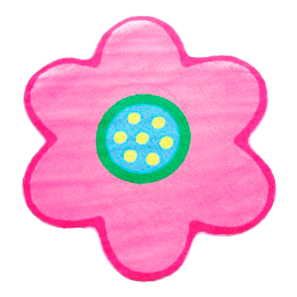 "Fun Rugs Fun Time Shape Poppy Light Pink Home Decorative Accent Area Rug 39""X39"""