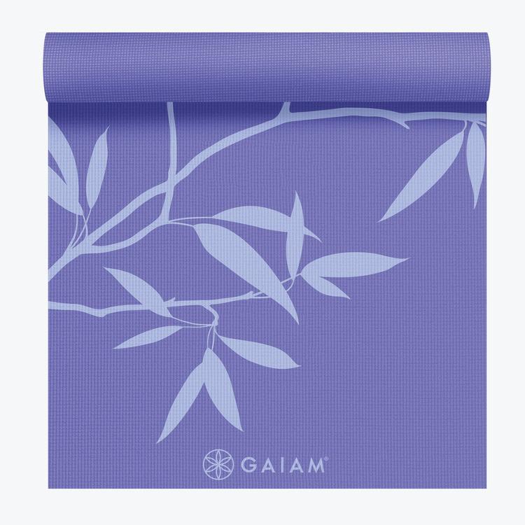 GAIAM PREMIUM ASH LEAVES YOGA MAT 5MM Light Purple