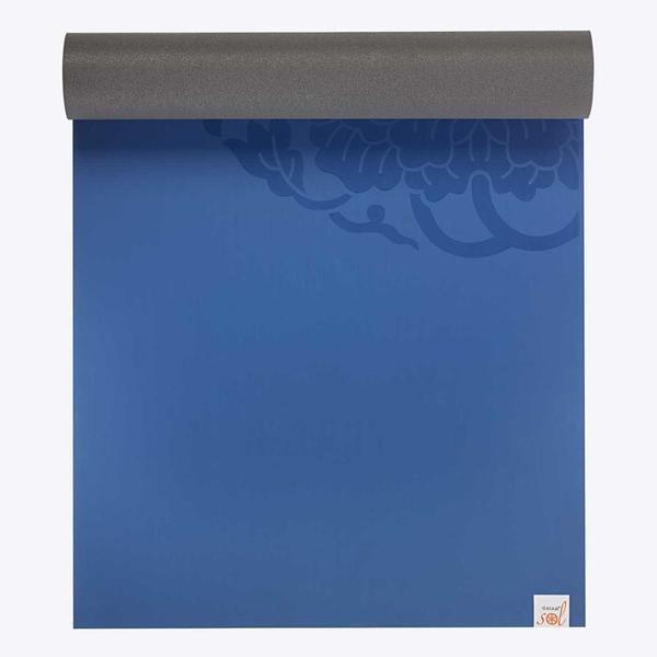 GAIAM STUDIO SELECT DRY GRIP YOGA MAT 5MM 68 INCH BLUE