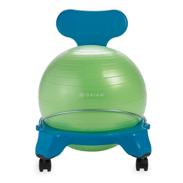 Gaiam Kids Classic Balance Ball Chair 38cm Blue/Green