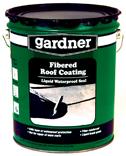 GARDNER� FIBERED ROOF COATING, 1 GALLON