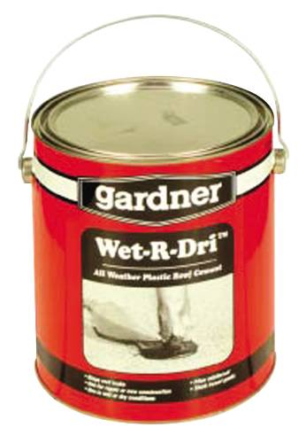 GARDNER� WET-R-DRI� ALL WEATHER PLASTIC ROOF CEMENT, 1 GALLON