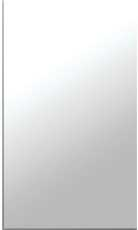 "MIRROR 1/8"" THICK, SEAMED EDGE, 12X13-7/8"""