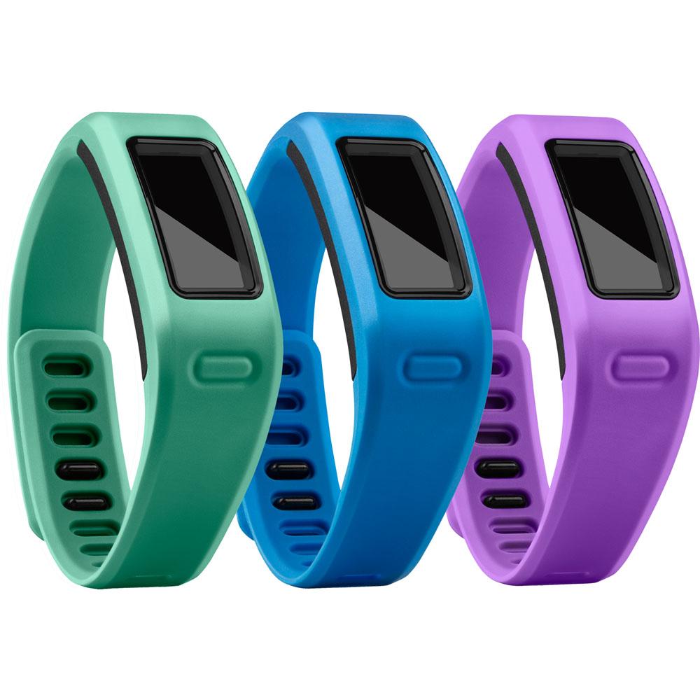 Large Wrist Bands, Purple, Teal, Blue  3 Pack