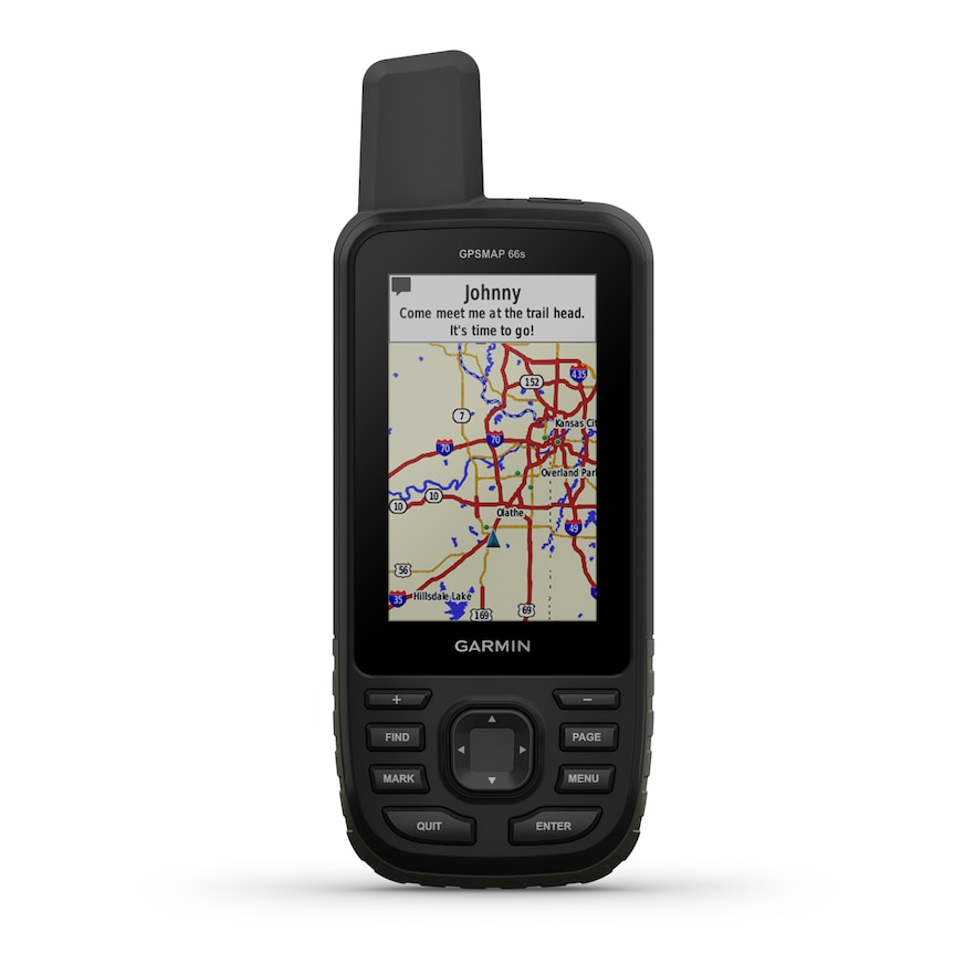 Garmin GPSMAP 66s, Handheld Hiking GPS with 3 Color Display