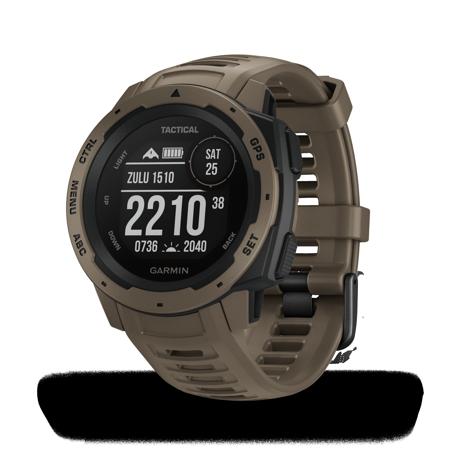 Garmin Instinct Tactical Edition GPS Watch-Coyote Tan