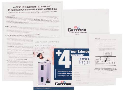 GARRISON EXTENDED WARRANTY 4 YEARS