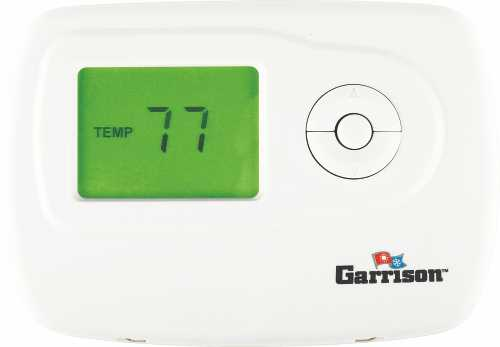 GARRISON DIGITAL THERMOSTAT, 1 STAGE HEAT/COOL NON-PROGRAMMABLE