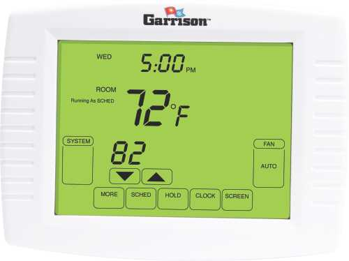 GARRISON TOUCHSCREEN THERMOSTAT, 3 STAGE HEAT/ 2 STAGE COOL