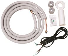 GARRISON MINI-SPLIT INSTALLATION KIT, 2* 16 FT. COPPER PIPES, 18 FT. CONNECTING WIRE, WRAPPING TAPE, ETC. (FOR 9K UNIT)