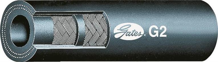 Gates Global G2 86623 Wire Braided Hydraulic Hose, 1/2 in X 50 ft, 4000 psi, Synthetic Rubber