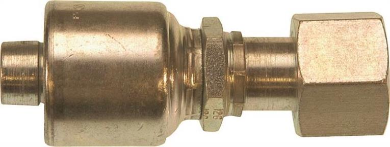 MegaCrimp G25 G252300608 Hydraulic Hose Coupling, 3/8 in, FNPT, Low Carbon Steel