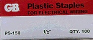 PS-150 1/2 IN. PLSTC 2NAIL STAPLE