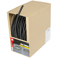 Gardner Bender FLX-3820B Split Flex Tubing, 3/8 in, Black